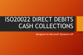 ISO20022 DIRECT DEBITS CASH COLLECTIONS
