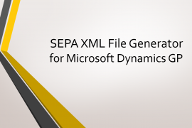 SEPA XML File Generator for Dynamics GP