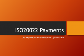 ISO20022 Payments for Dynamics GP